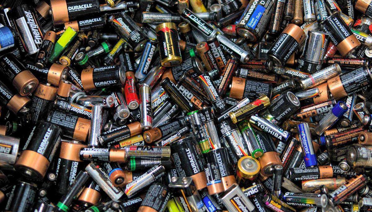 Proceso de reciclaje de pilas