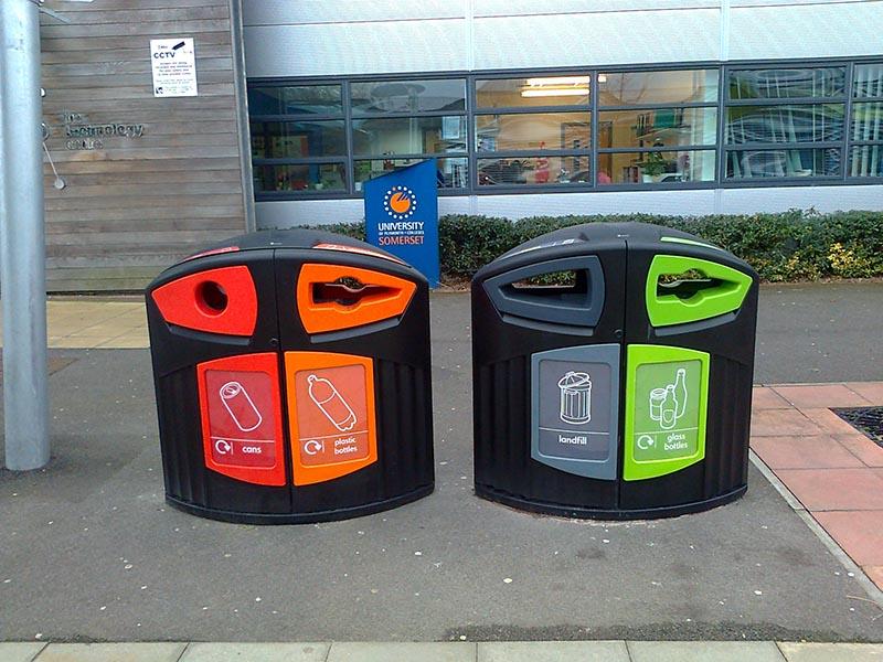 Tipos de contenedores para reciclaje